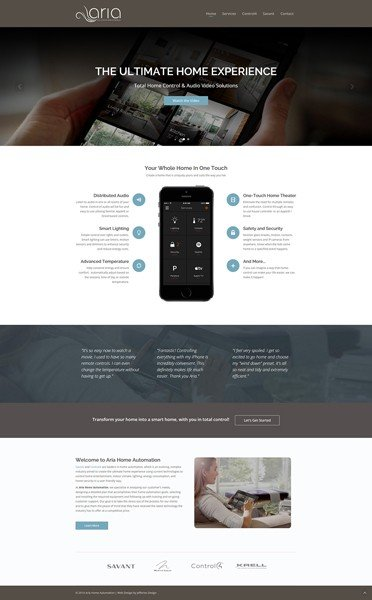 Naples Web Designer - Responsive Web Design for Aria Home Automation of Naples, Florida.