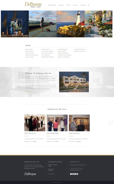 Naples Web Designer - Debruyne Fine Art website deign Naples, Florida.