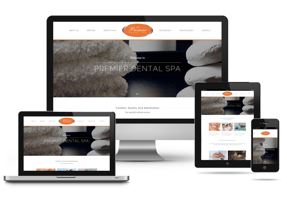 A responsive and mobile friendly WordPress website for Premier Dental Spa in New Jersey.