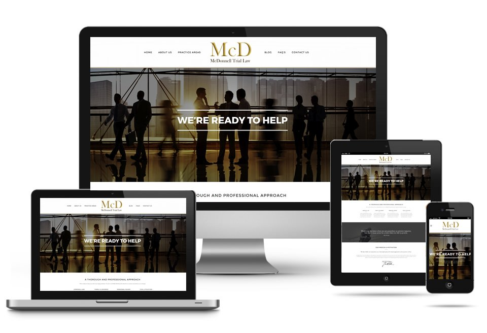 Mobile-Responsive Web Design for McDonnell Trial Law in Naples, Florida