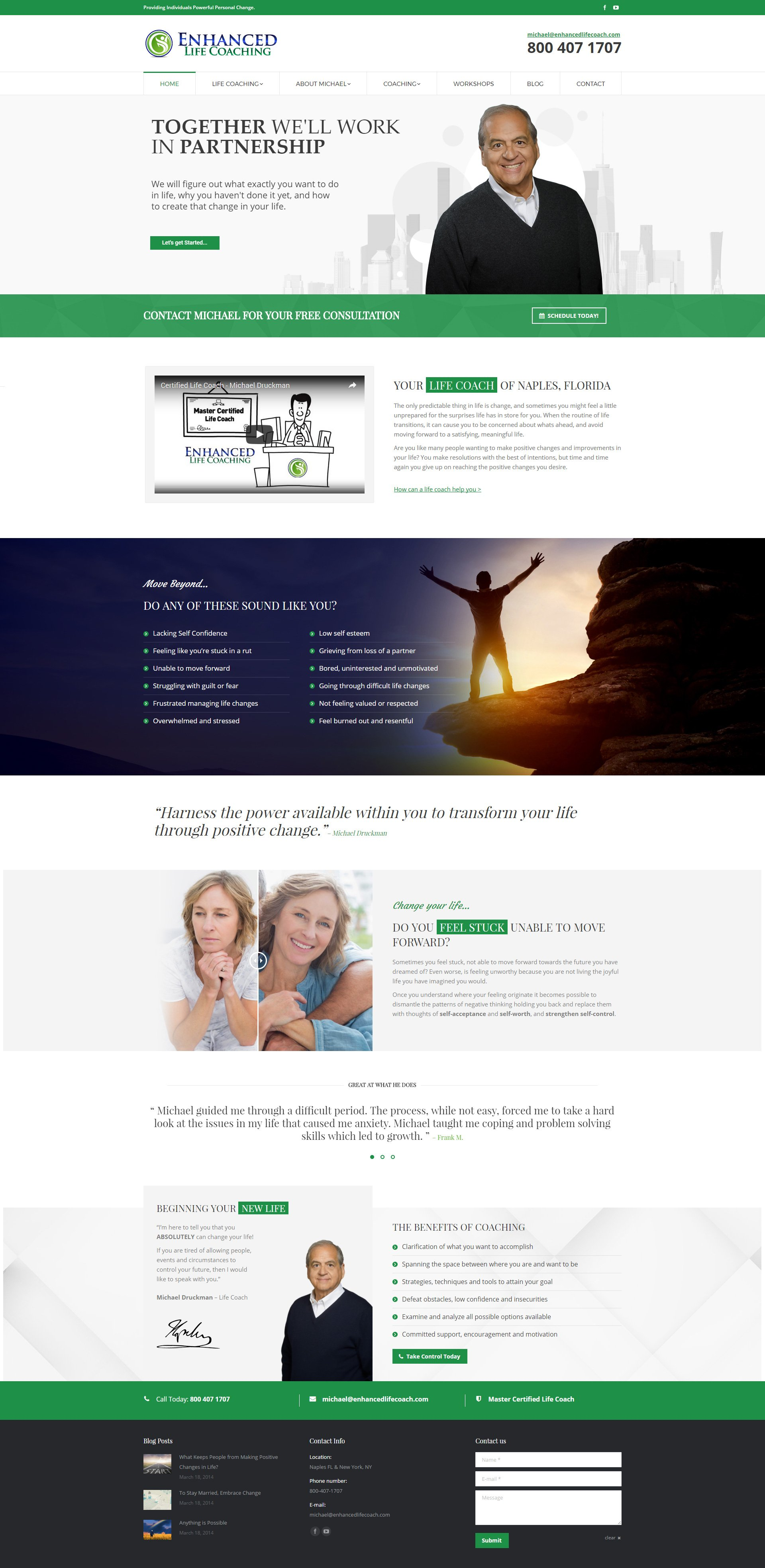 Web Design Naples Florida - Oli Denson - Life Coach Web Design