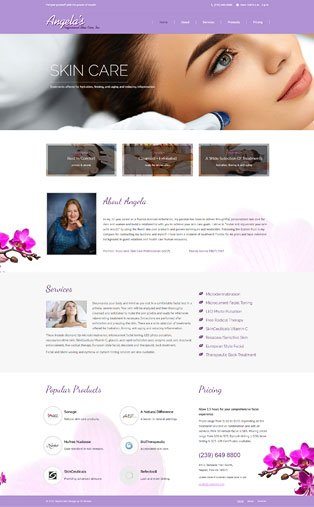 Web Design Naples Florida - Oli Denson - Skin Care Web Design