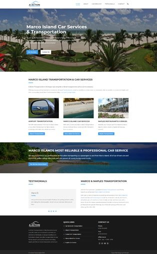 Web Design Naples Florida - Oli Denson - Transportation & Taxi Website Design
