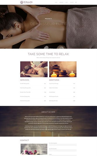 Web Design Naples Florida - Oli Denson - Health Spa Website Design
