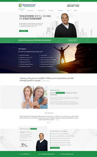 Web Design Naples Florida - Oli Denson - Life Coach Website Design
