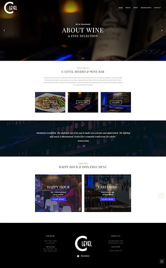 Web Design Bonita Springs - Oli Denson - Bonita Bar Website Design