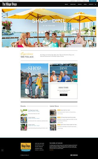 Web Design Naples Florida - Oli Denson - The Village Shops Website Design