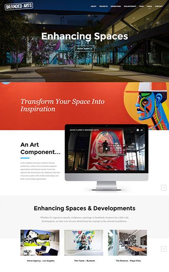 Web Design Naples Florida - Oli Denson - Artist Web Design