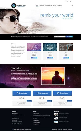 Web Design Naples Florida - Oli Denson - Remix Your World Website Design
