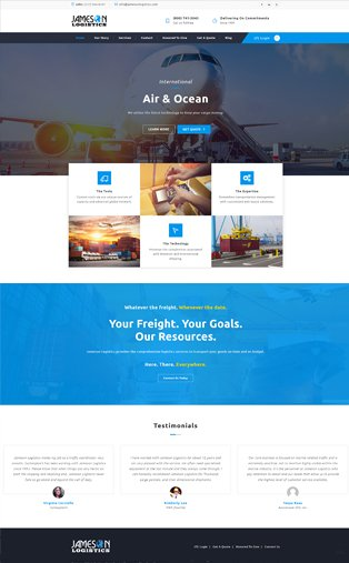 Transportation and Logistics Web Design Naples Florida