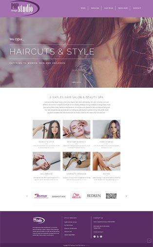 Naples Web Design - Salon and Spa Website Design by Oli Denson