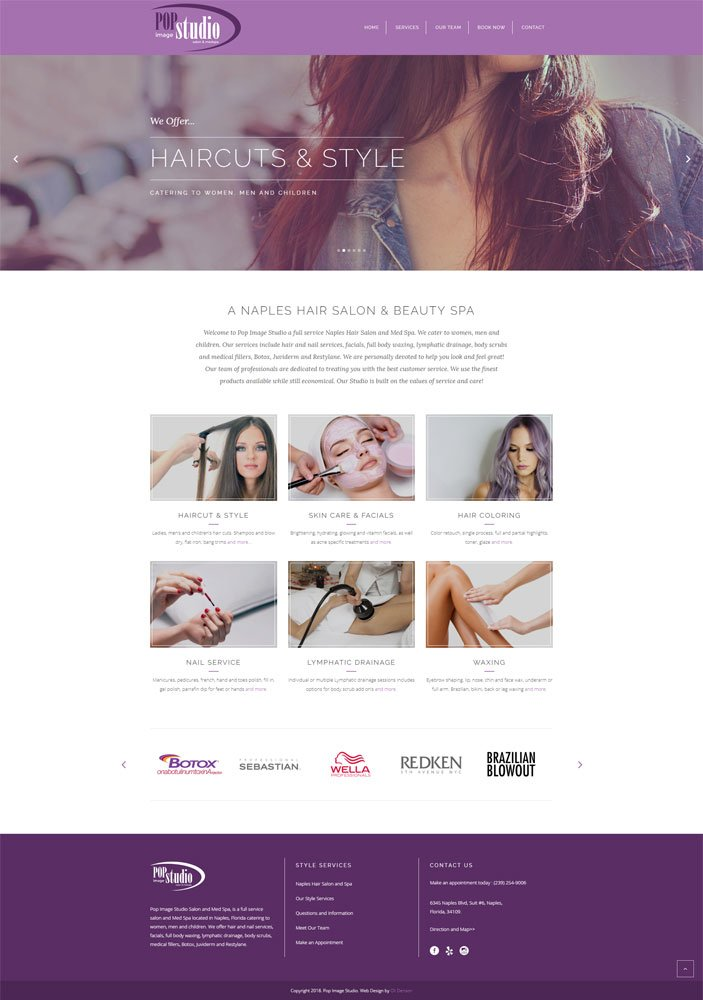 Naples Web Design - Salon and Spa Website Design by Oli Denson