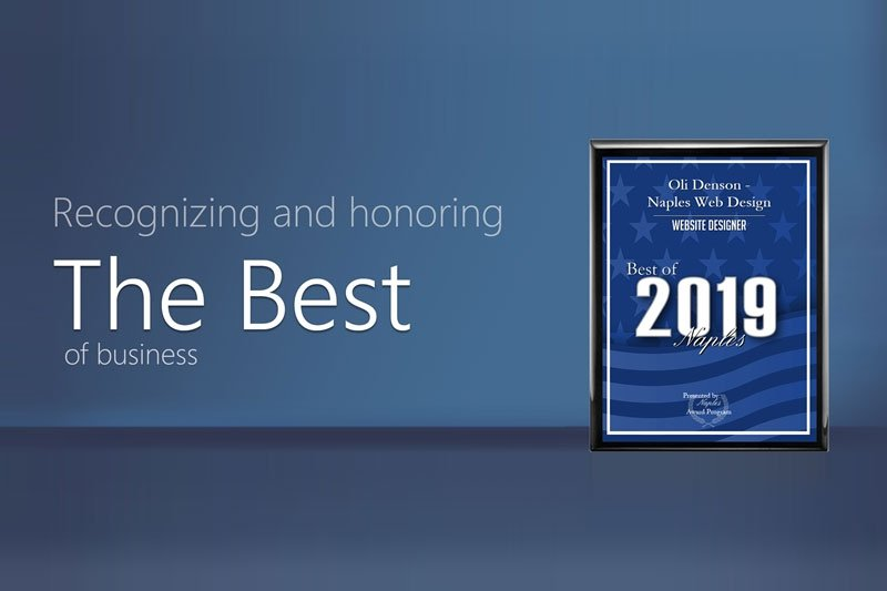 Naples Best Web Designer Award