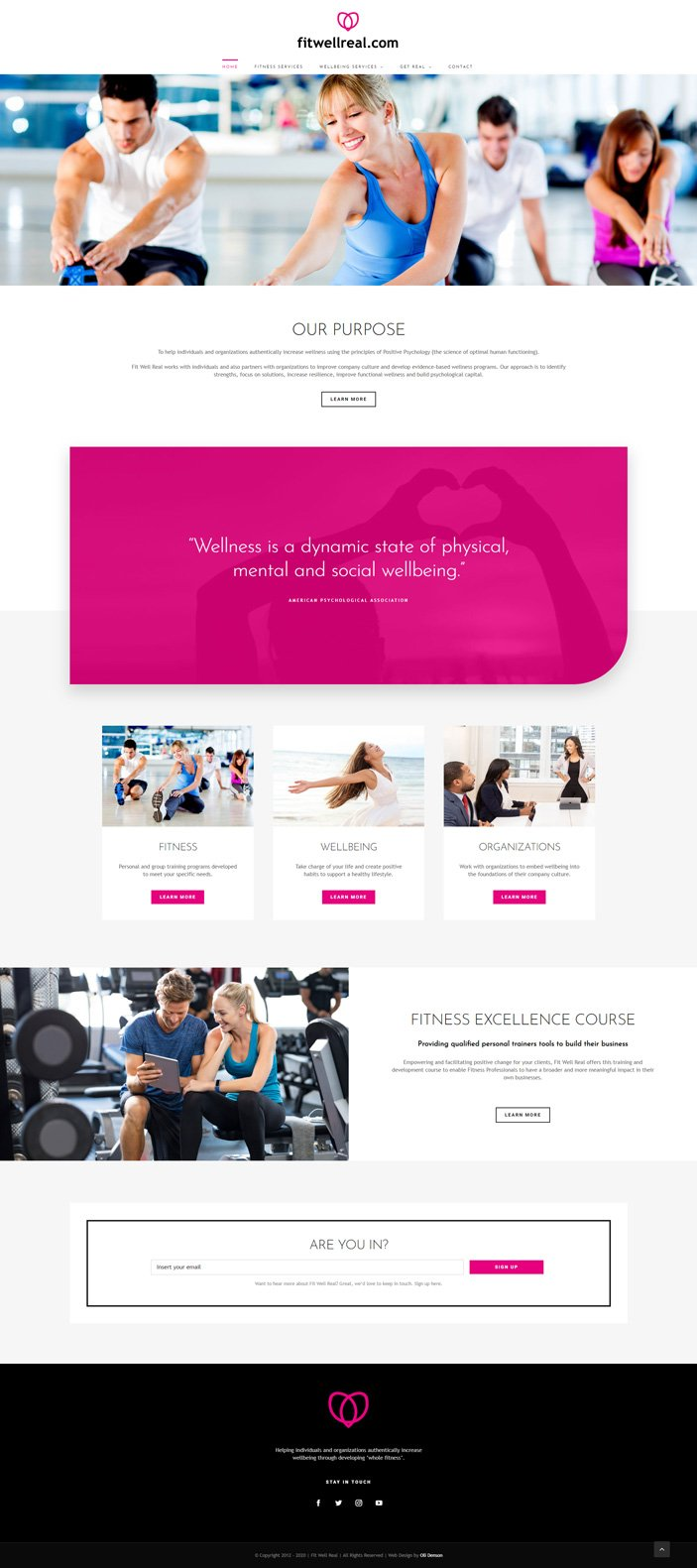 naples fitness web design