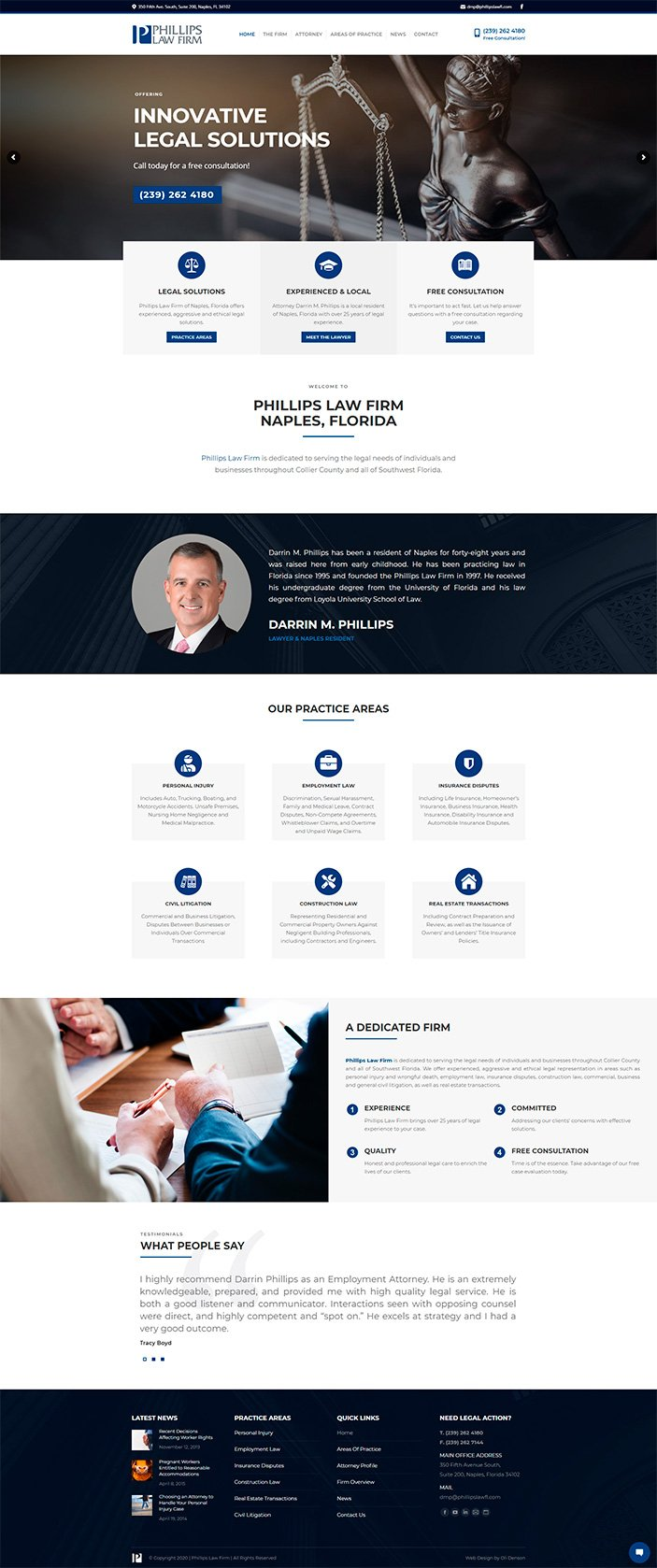 naples lawyer web design