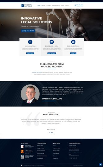 naples lawyer website design